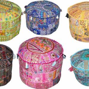 handmadepatchworkottoman-kusumhandicrafts-indianottomanpoufs