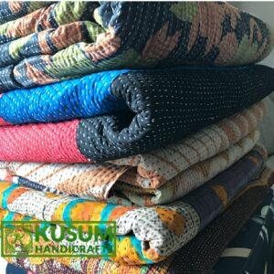 vintagekanthaquilt-indigokanthaquilt-kusumhandicrafts-reversiblekanthaquilt-wholesalevintagekanthathrow-khushvin