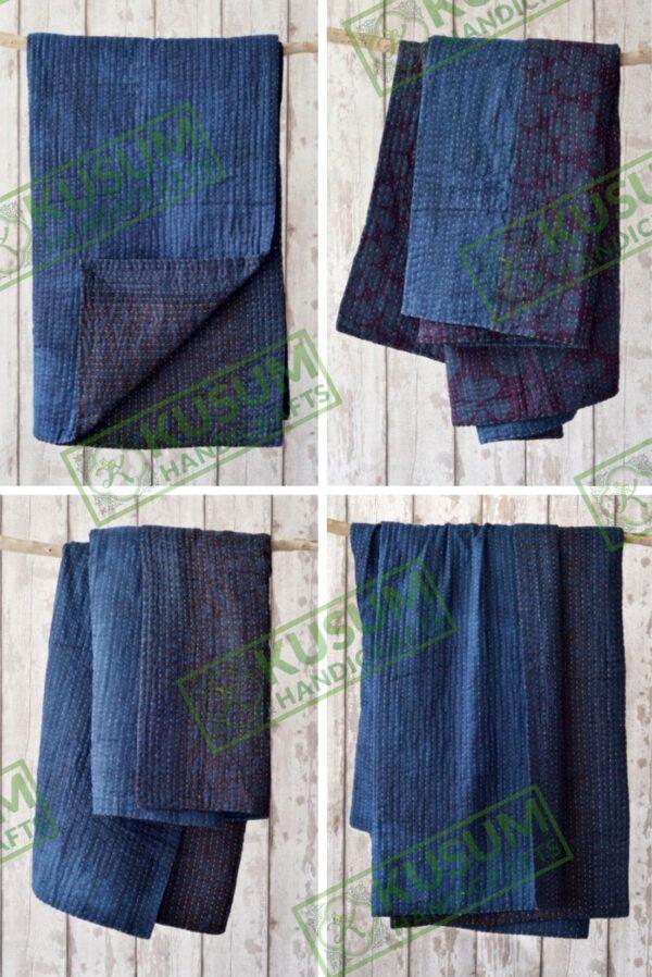 kusumhandicrafts-indigo-kantha-quilt-wholesale-khushvin-manufacturer
