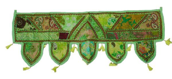 greenembroideredpatchworkwallhanningtoran-kusumhandicrafts
