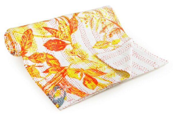 yellowbirdprintkanthaquilt-kusumhandicrafts