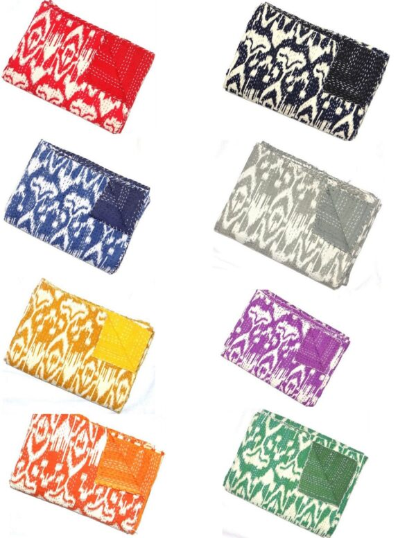 ikatkanthaquilt-kusumhandicrafts-indiankanthaquilt-indiankanthamanufacturer-kantha-quilt-bedcover