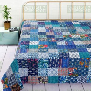 Forceful Beautiful Quilt Handcrafted Cotton Quilt Quilt #6 Rich And Magnificent Handcrafted & Finished Pieces