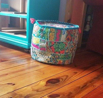Saripatchworkottoman-kusumhandicrafts-handmadepatchworkpoufs