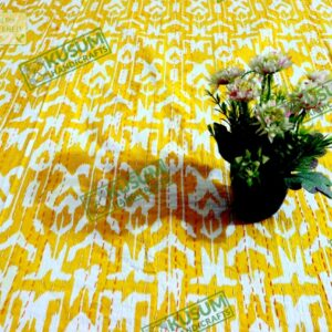 ikatkanthaquilt-kusumhandicrafts-ikat-bedcover-khushvin-indiankanthaquilt