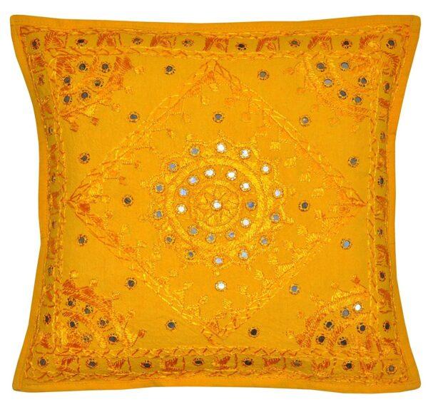 yellowmirrorworkcushioncover-kusumhandicrafts