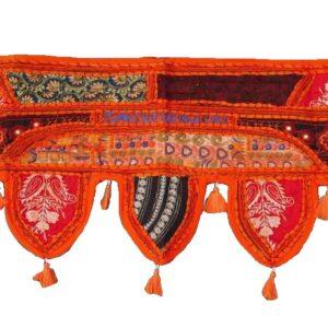 orangeembroideredpatchworkwallhanningtoran-kusumhandicrafts
