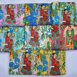 Frida Kahlo Print Fabric-kusumhandicrafts
