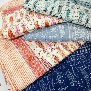 blockprintkanthathrow -kusumhandicrafts-fishprintquilt